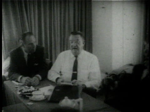 men meeting at conference table / branch rickey press conferences - conference table stock videos & royalty-free footage