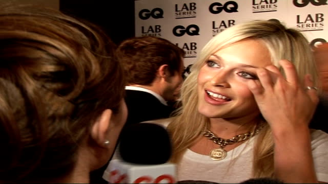 interviews fearne cotton interview sot talks of presenting award to jonathan ross the best presenter in the world / man of the year would be jason... - fearne cotton stock videos & royalty-free footage