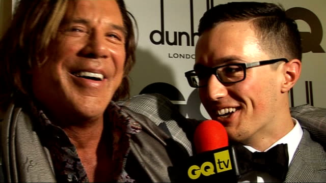 men of the year awards 2009; dizzee rascal interview sot - on winning the award / on having three number ones in 2009 - down to hard work and... - elvis costello stock-videos und b-roll-filmmaterial