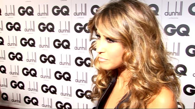 GQ Men of the Year awards 2009 General views of Yoko Ono / General views Rachel Stevens on red carpet Rachel Stevens interview SOT Her man of the...