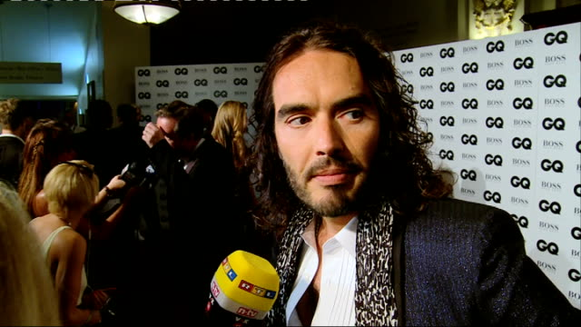 Red carpet arrivals Russell Brand interview SOT / Piers Morgan interview SOT / Jourdan Dunn interview SOT / Boris Johnson speaking to press