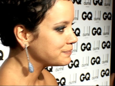 red carpet interviews allen speaking to press including close up of earring lily allen speaking to press sot praises chanel fashion house / on her... - earring stock videos & royalty-free footage