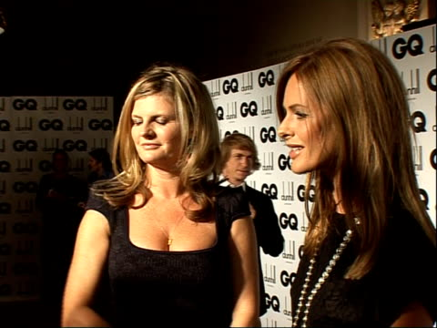 men of the year awards: red carpet interviews; gvs of trinny woodall and susanah constantine trinny and susanna interview sot - just finished new... - doctor who stock videos & royalty-free footage