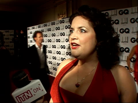 red carpet interviews ruth jones interview sot on not being eligible for 'man of the year' award / on aiming to talk to alan carr [who is also... - carol vorderman stock videos & royalty-free footage