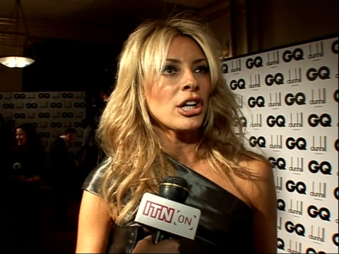 men of the year awards: red carpet interviews; tess daly interview sot - on presenting an award / on being starstruck especially at gq awards which... - ストリクトリーカムダンシング点の映像素材/bロール