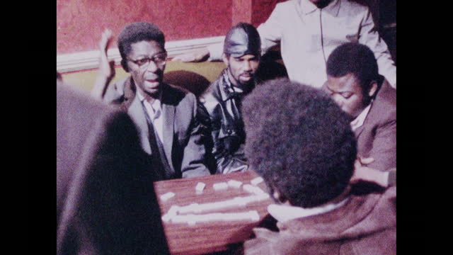 men play dominoes in a pub in brixton, london; 1973 - community stock videos & royalty-free footage