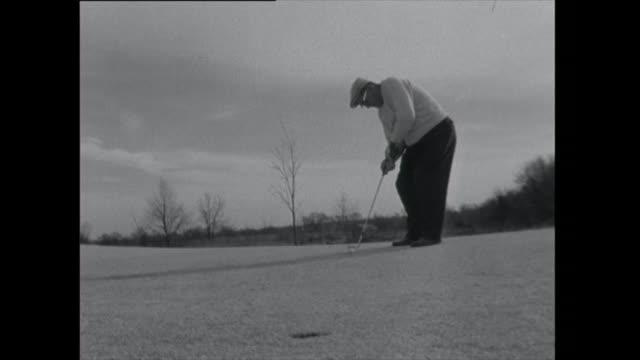 men play golf - golf swing stock videos & royalty-free footage