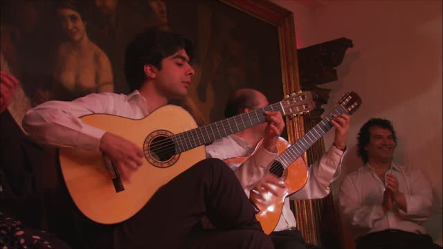 ms zi cu men playing acoustic guitars, madrid, spain - flamenco stock videos & royalty-free footage