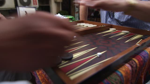 men playing backgammon cu - istanbul stock videos & royalty-free footage