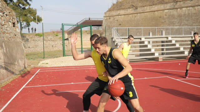 men playing ball - tall person stock videos and b-roll footage