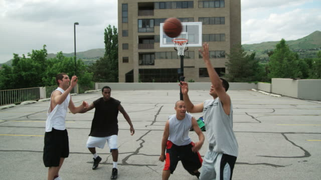 WS TU Men playing basketball / Salt Lake City, Utah, USA.