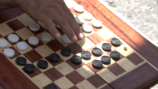 men playing checkers - draughts stock videos & royalty-free footage