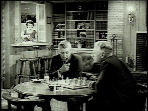 1962 zo men playing chess / united states - chess stock videos & royalty-free footage