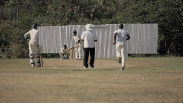 ws men playing cricket / springfield, st joseph, barbados - west indies stock videos & royalty-free footage