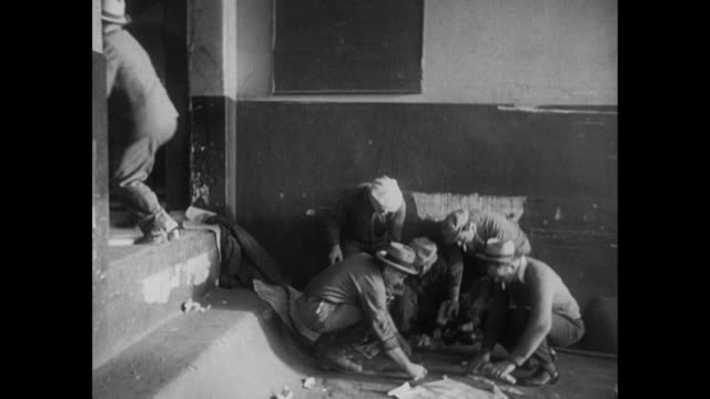 1931 men playing dice for money in the street - dice stock videos & royalty-free footage