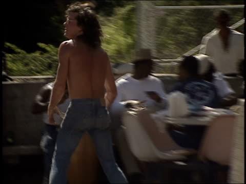 men playing frisbee at uc berkeley - shirtless stock videos & royalty-free footage