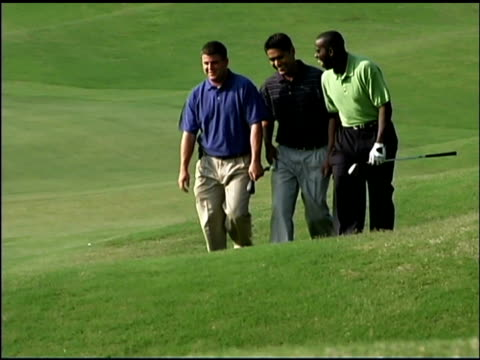 men playing golf - male friendship stock videos & royalty-free footage
