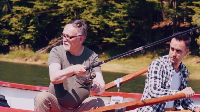 vídeos de stock, filmes e b-roll de men/ polanczyk/ poland - fishing