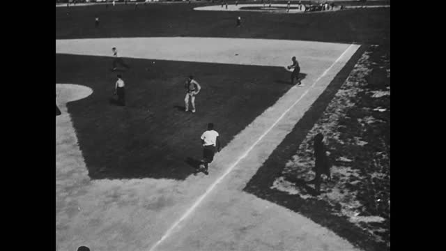 men practicing on gymnastic rings and playing ball in gym/ playing baseball - postwar stock videos & royalty-free footage