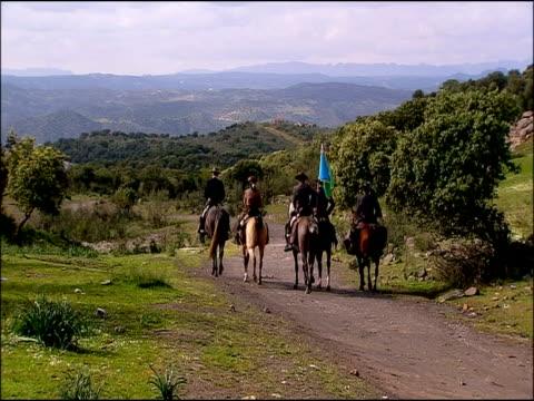 men riding, andalusia, southern spain - einige gegenstände mittelgroße ansammlung stock-videos und b-roll-filmmaterial