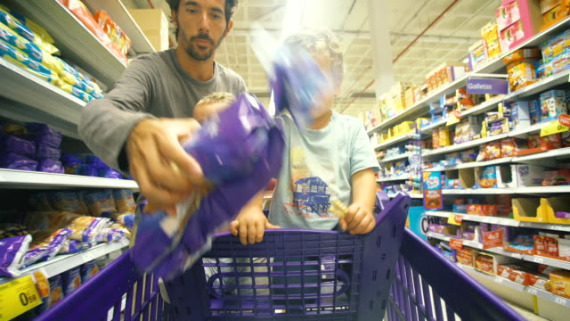 men shopping - trolley stock videos and b-roll footage