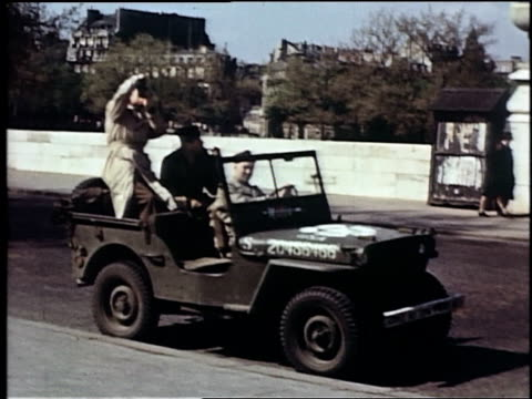 men sitting in an army jeep in street / europe - shaky stock videos & royalty-free footage