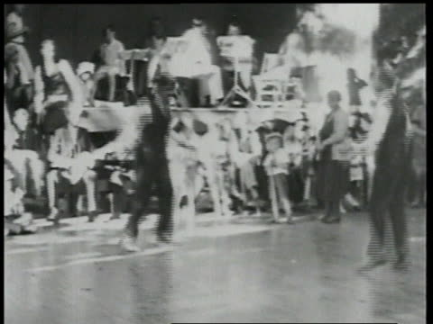 1924 ws men tap dancing in front of crowd / detroit, michigan, united states - in front of stock videos & royalty-free footage