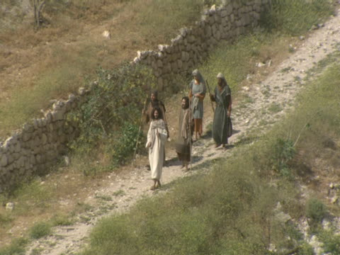 men walk along a path on mount zion. - israelite stock videos & royalty-free footage