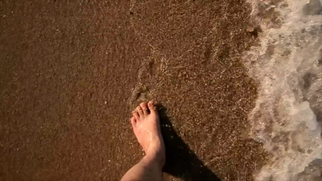 men walking on the beach,point of view - tourist resort stock videos & royalty-free footage