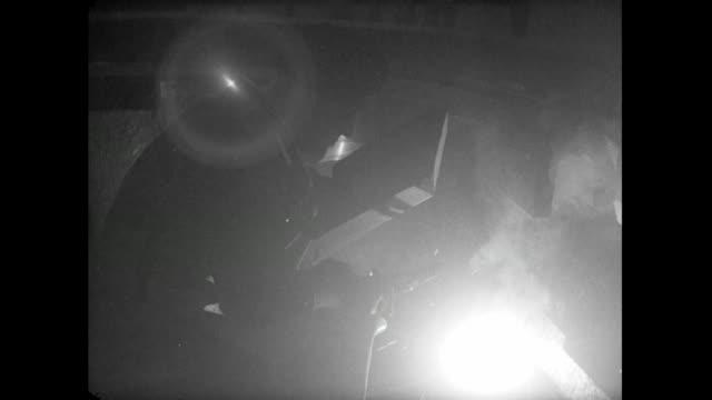 men welding in a workshop; 1956 - metal industry stock videos & royalty-free footage