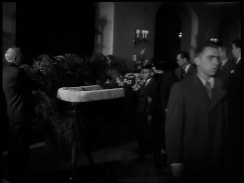men women and children walking past henry ford's open casket looking in / detroit michigan united states - henry ford founder of ford motor company stock videos & royalty-free footage