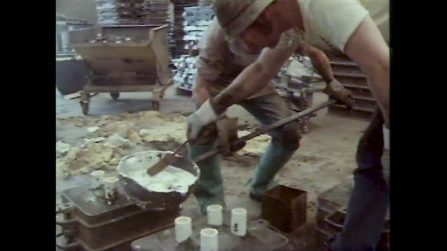 men work in foundry; 1983 - furnace stock videos & royalty-free footage