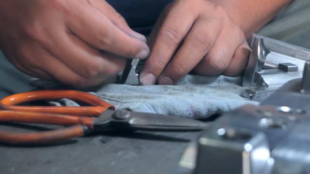 men working in surface polishing - polishing stock videos & royalty-free footage