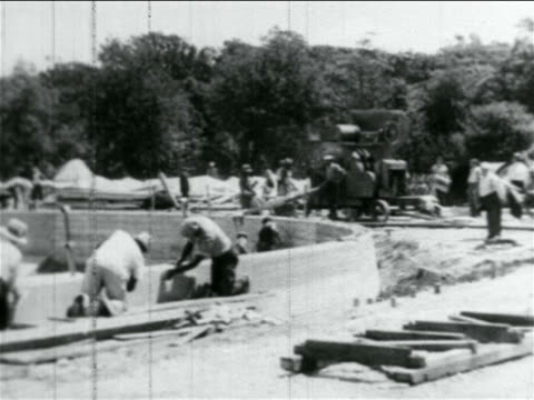 men working on wpa reservoir construction project / atlantic city, nj / documentary - 1934 stock videos & royalty-free footage