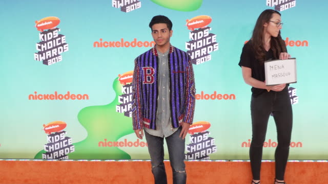 mena massoud at the nickelodeon's 2019 kids' choice awards at galen center on march 23 2019 in los angeles california - nickelodeon kids' choice awards stock videos & royalty-free footage
