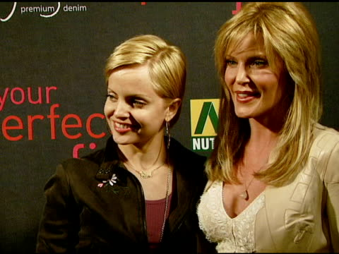 mena suvari and paige adams-geller at the paige denim book launch at paige premium denim boutique in west hollywood, california on february 28, 2008. - mena suvari stock videos & royalty-free footage