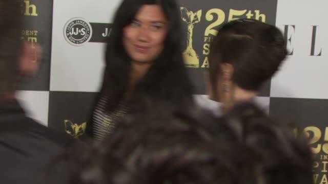 mena suvari at the 2010 film independent's spirit awards - arrivals part 2 at los angeles ca. - mena suvari stock videos & royalty-free footage