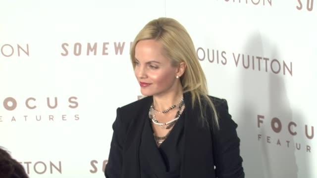 mena suvari at the 'somewhere' premiere at hollywood ca. - mena suvari stock videos & royalty-free footage