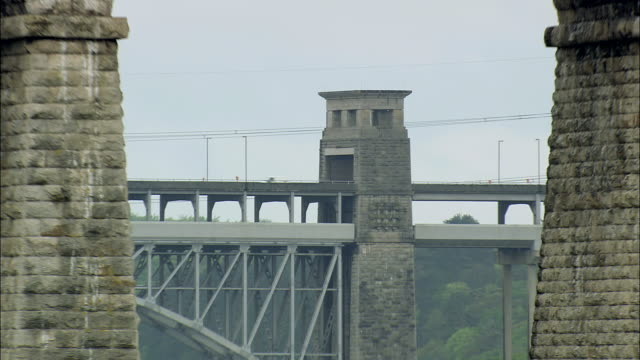 menai straits and bridges - wales stock videos & royalty-free footage
