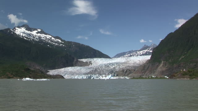 WS, ZI, Mendenhall Glacier and Mendenhall Lake, Tongass National Forest, Alaska, USA