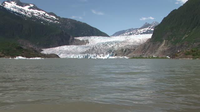 WS, ZI, MS, Mendenhall Glacier and Mendenhall Lake, Tongass National Forest, Alaska, USA