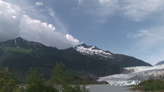 ws, mendenhall glacier and mendenhall lake, tongass national forest, alaska, usa - juneau stock videos and b-roll footage