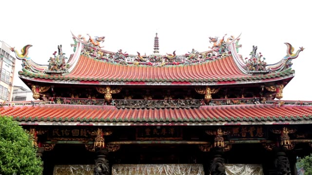 mengjia longshan temple - temple building stock videos and b-roll footage