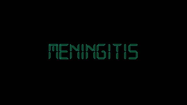 meningitis title animation - disease vector stock videos & royalty-free footage