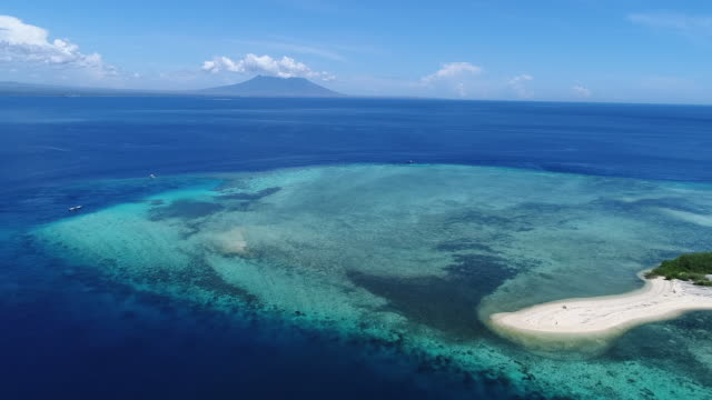 menjangan island, west bali national park. - horizon over land stock videos & royalty-free footage