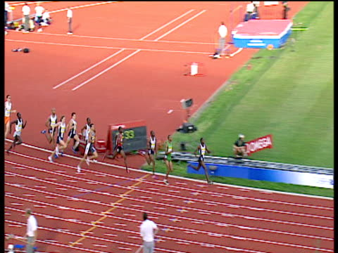 men's 800m won by joseph mutua , 2004 crystal palace athletics grand prix, london - 800 metre stock videos & royalty-free footage