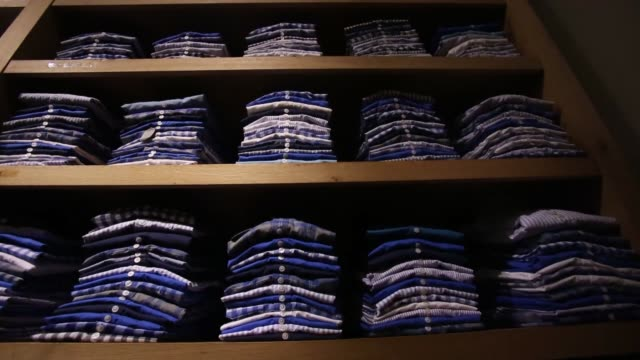 men's clothing, designer clothing j crew store - spring collection on february 11, 2013 in new york, new york - designer clothing stock videos & royalty-free footage