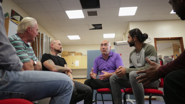 men's mental health support group - nhs stock videos & royalty-free footage