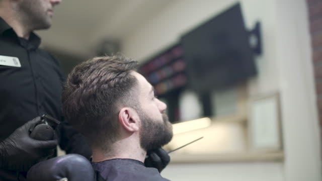 men's salon - electric razor stock videos and b-roll footage