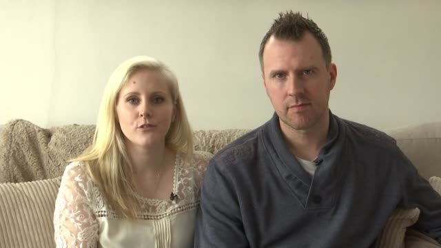 mental health awareness week: post natal depression effect on family; ext **sarah wood interview partly overlaid sot** sarah wood and husband john by... - postpartum depression stock videos & royalty-free footage
